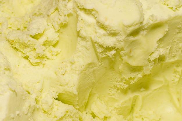 Экстремальный крупный план мороженого с ванильным вкусом