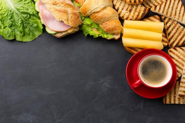 Домашние бутерброды копией пространства