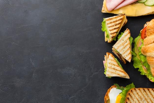 Клубные бутерброды, расположение, копия, пространство