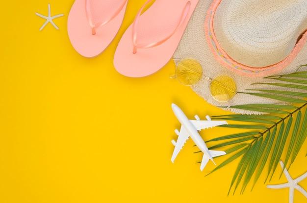 準備された夏の旅行ツール