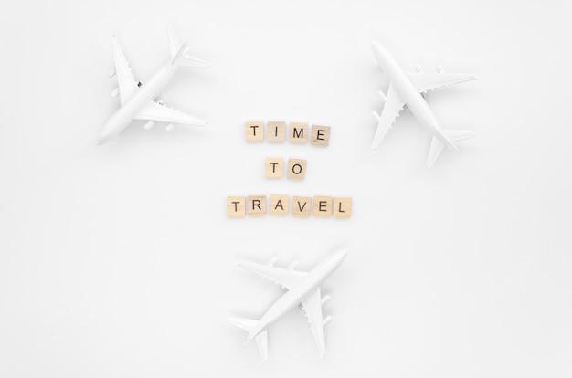 飛行機で旅行するためのメッセージ