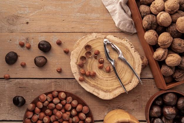 Вид спереди орехов концепции