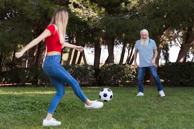 父と娘のサッカー