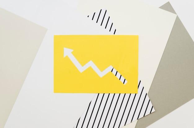 カラフルな矢印の平面図