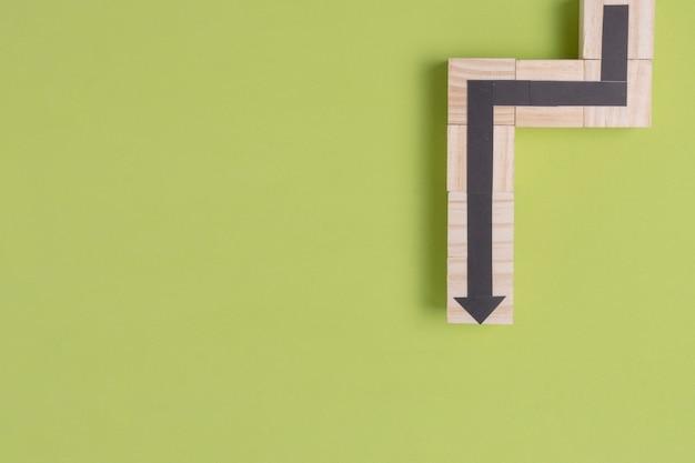 コピースペースを持つ蛇矢印