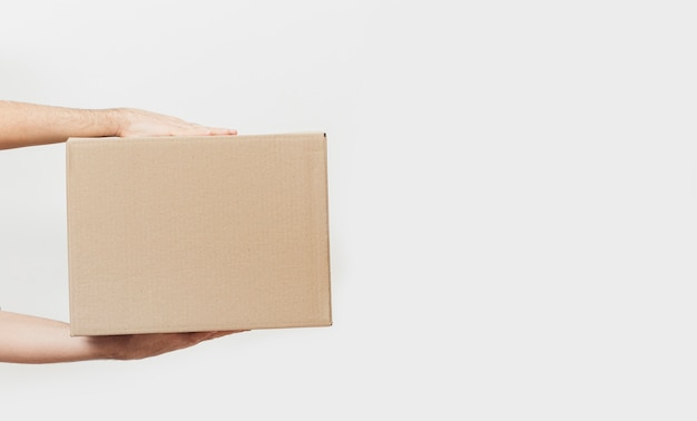Коробка доставки с копией пространства
