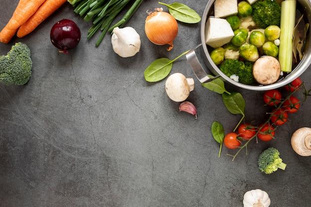 野菜スープを食べることの概念