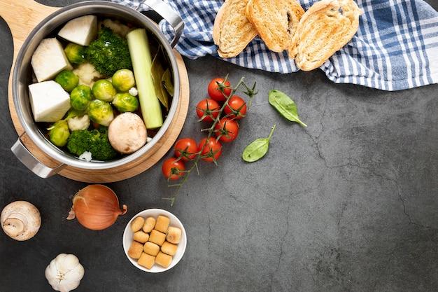 有機スープを食べることの概念
