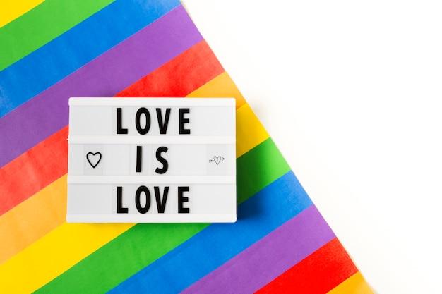 虹色のゲイプライドコンセプト