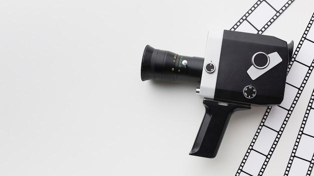 白い背景の映画要素の構成