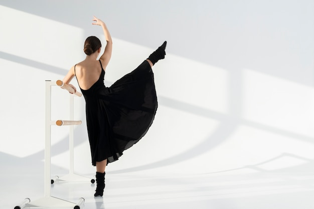 エレガントなダンスを実行する背面ダンサー