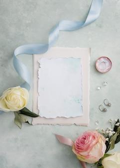 Свадебная открытка и украшения