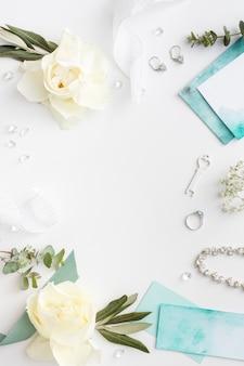 Вид сверху невеста украшения