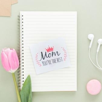 ノートブックの母の日カード