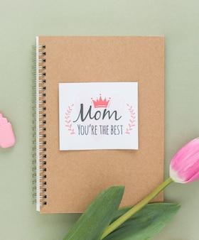 母の日カードをクローズアップ