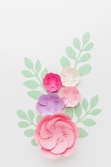 フラットレイアウト花紙装飾
