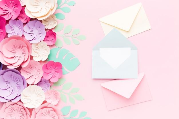 Свадебная открытка сверху