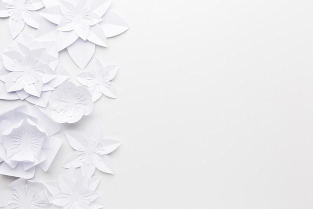 コピースペース紙の花飾り