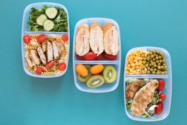 健康的な食事食品の品揃え