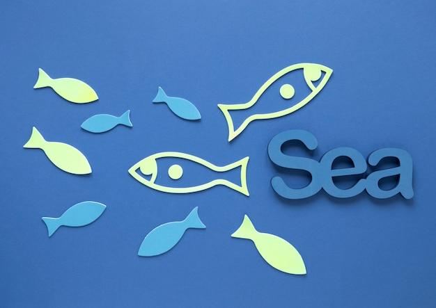 魚と海のトップビュー