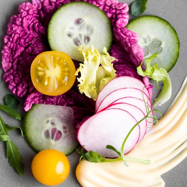 Плоская планировка с овощами