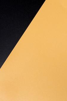 コピースペースを持つ平面図エレガントな金色の表面