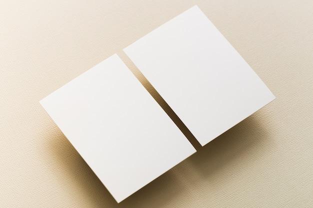 クローズアップの空白の名刺のコンセプト