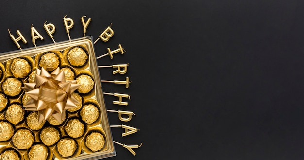 コピースペースのチョコレートボックス