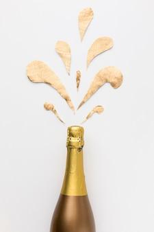 Плоская бутылка шампанского