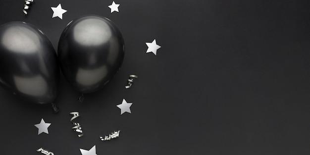 Черные воздушные шары для вечеринки