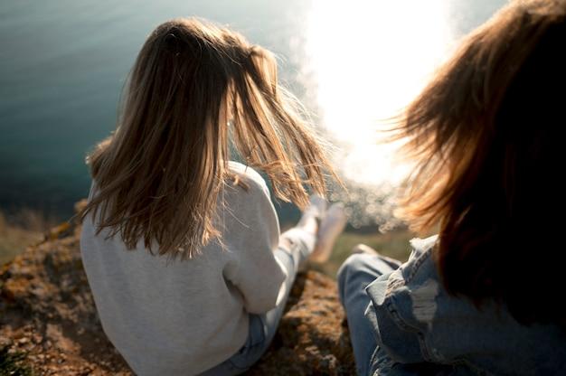 最高の女友達と海