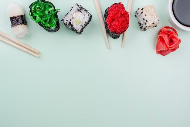 コピースペースの寿司の日のお祝い