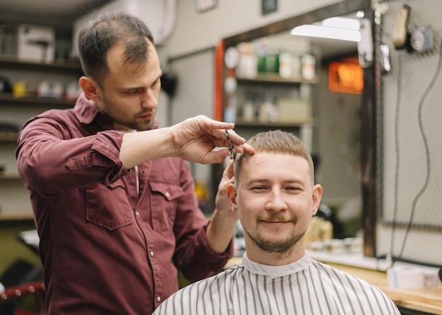 理髪店のコンセプトの正面図