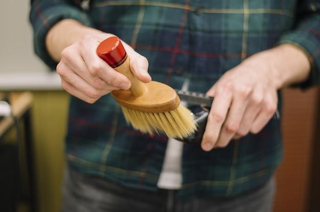 Вид спереди парикмахерской концепции