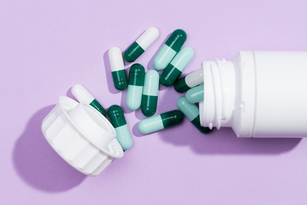 Вид сверху таблетки для лечения