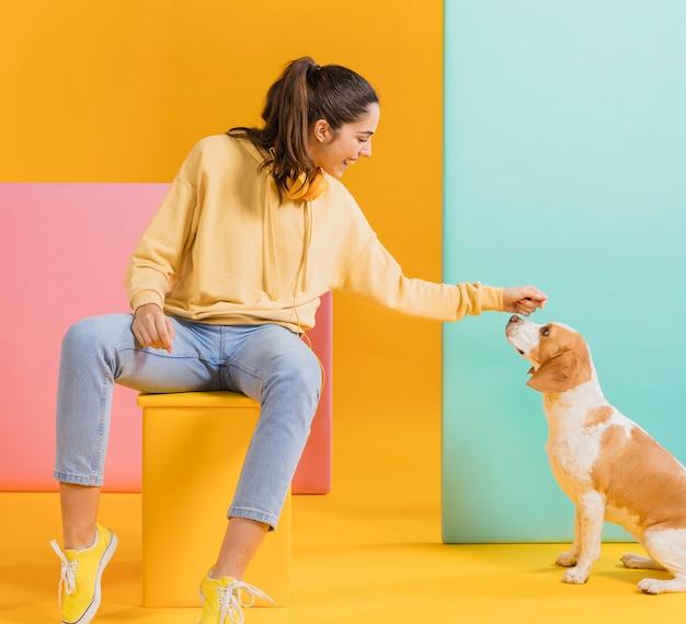 犬との幸せな女