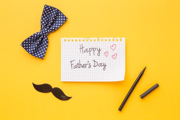 Счастливый день отца записка с луком