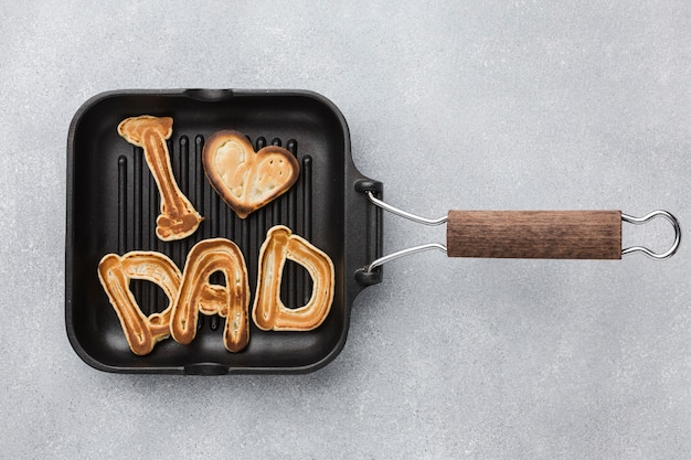 Вид сверху завтрак в день отца