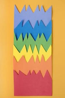 レインボーペーパー折り紙