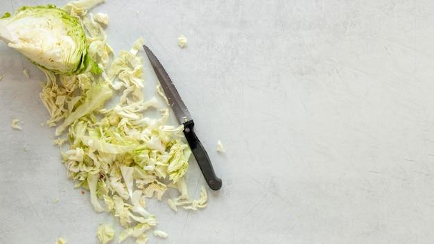 サラダ用コピースペースキャベツ