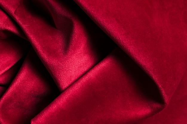 カーテン用のしっかりとした曲線の赤い生地