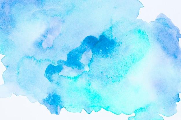 水彩アートハンドペイントブルーの背景