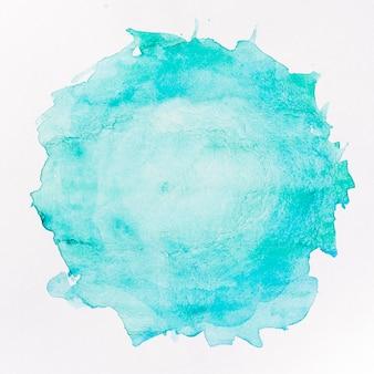 丸い青い汚れ水彩背景