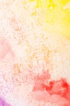 水彩アートハンドペイント暖かい色の背景