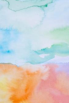 Небо в дневном свете абстрактного фона акварель