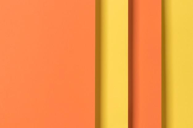 黄色とオレンジの食器棚