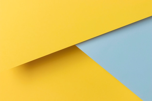 黄色と青の食器棚の形