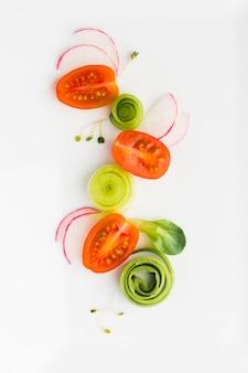 トップビューカット野菜