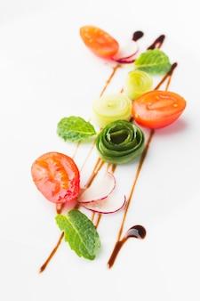 野菜のハイアングル配置