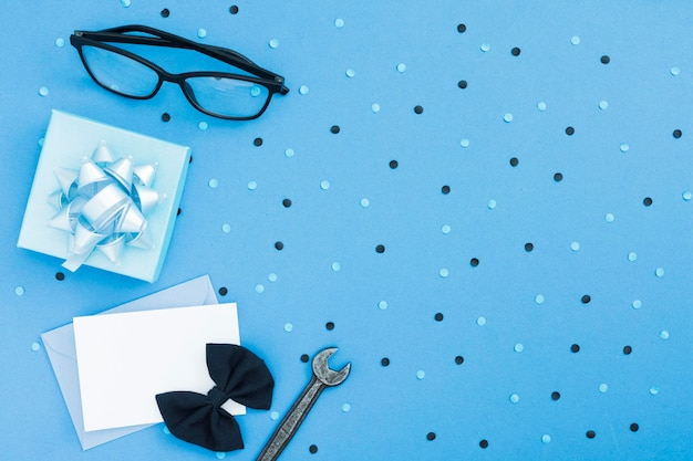 Плоская планировка подарков и открыток